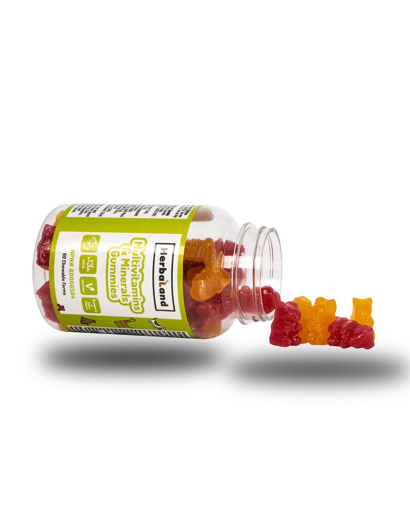 Herbaland Herbaland Gummy Vegan Multivitaminen & Mineralen  60 Zachte Capsules