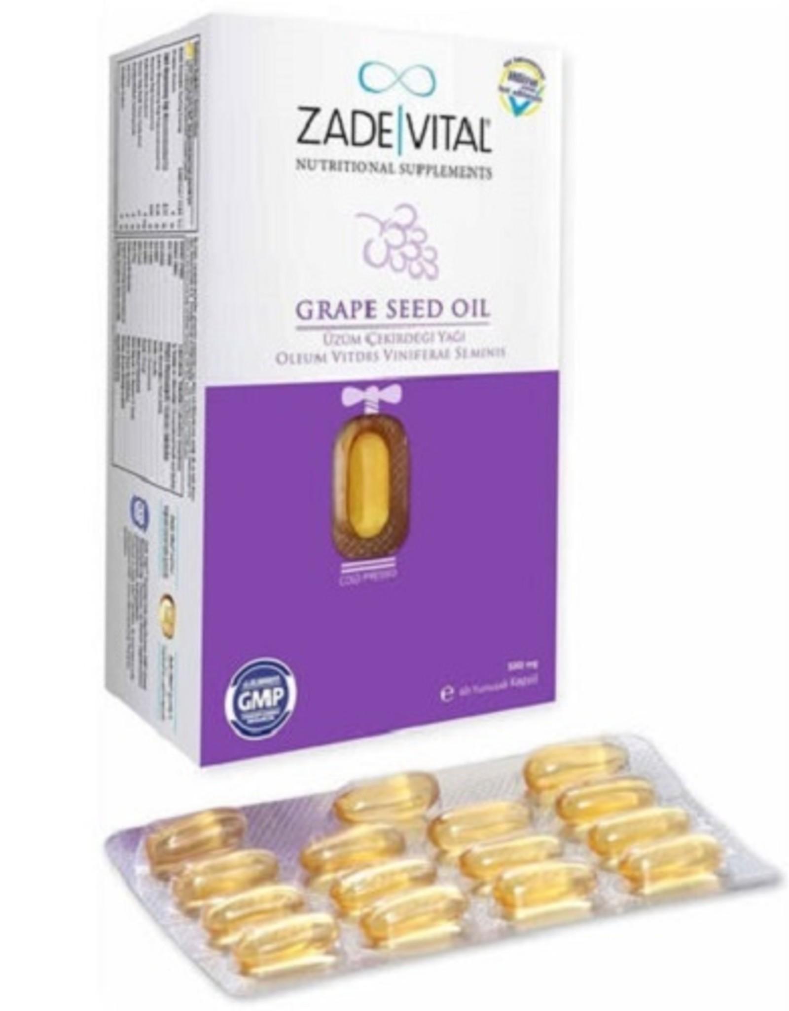 Zade Vital Zade Vital Üzüm Çekirdeği Yağı 500 Mg 60 Kapsül