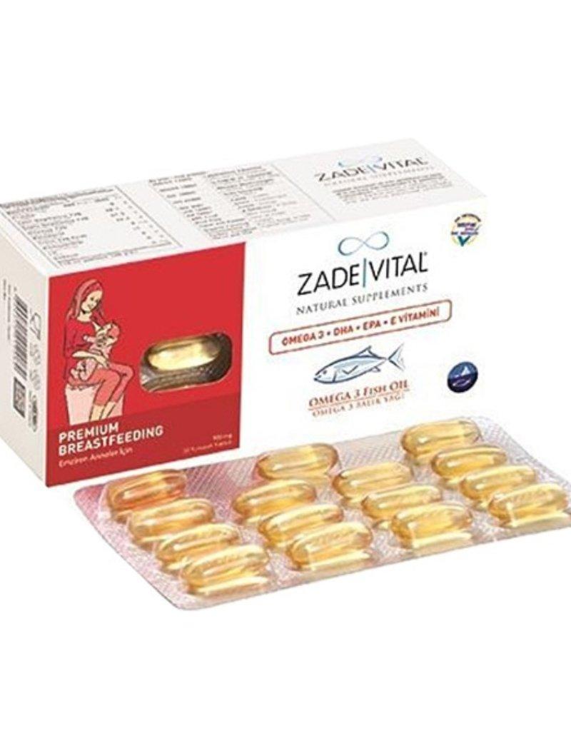 Zade Vital Zade Vital Omega 3-visolie 900 Mg 30 Capsules  (voor moeders die borstvoeding geven)