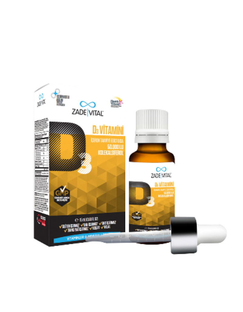 Zade Vital Zade Vital Vitamine D3 Druppels 15 ML (Geschikt voor het hele gezin)