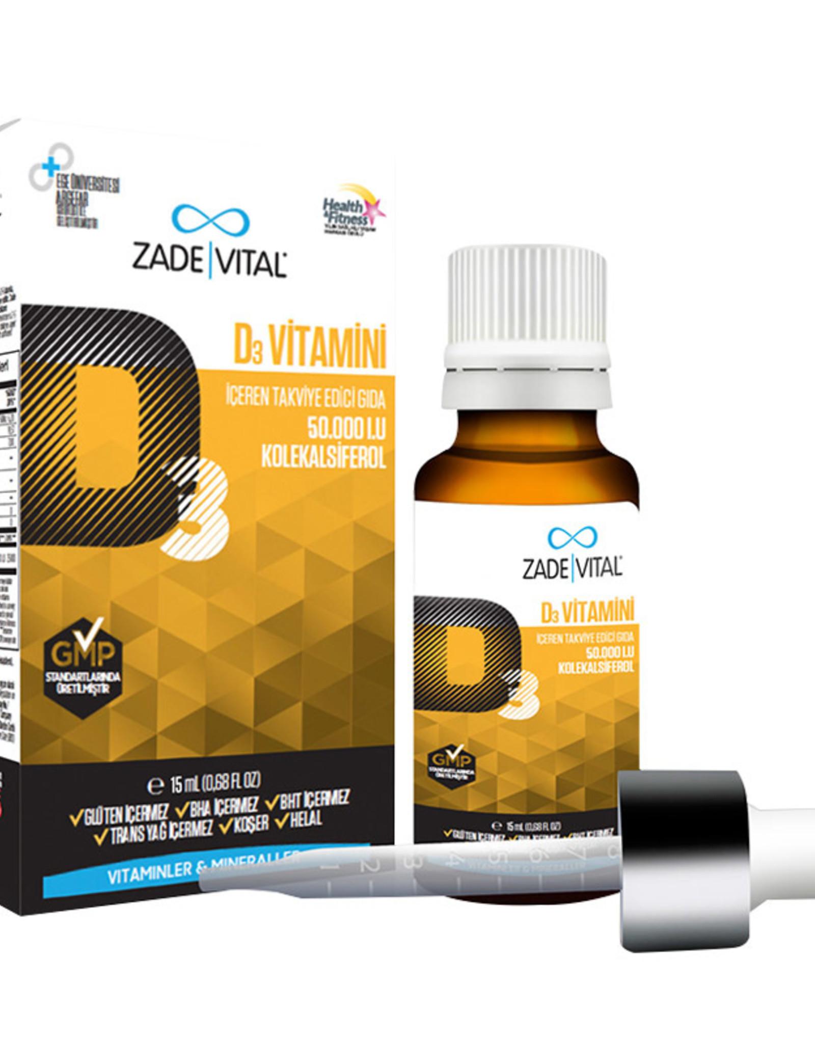 Zade Vital Zade Vital Vitamin D3 Damla 15ml (Çoçuklar ve Yetişkinler için)