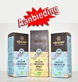 Eğriçayır Eğriçayır 1 Organic Propolis Keelspray 20 ml + 2 Organic Propolis 20 ml