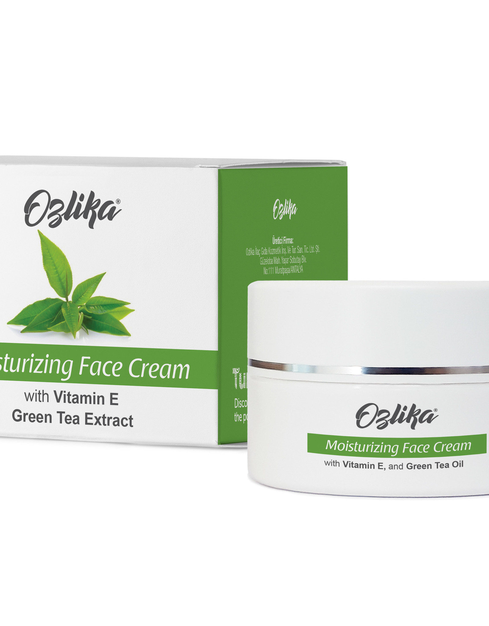 Ozlika Ozlika Mousturiserende gezichtscrème met extract van groene thee 45ml