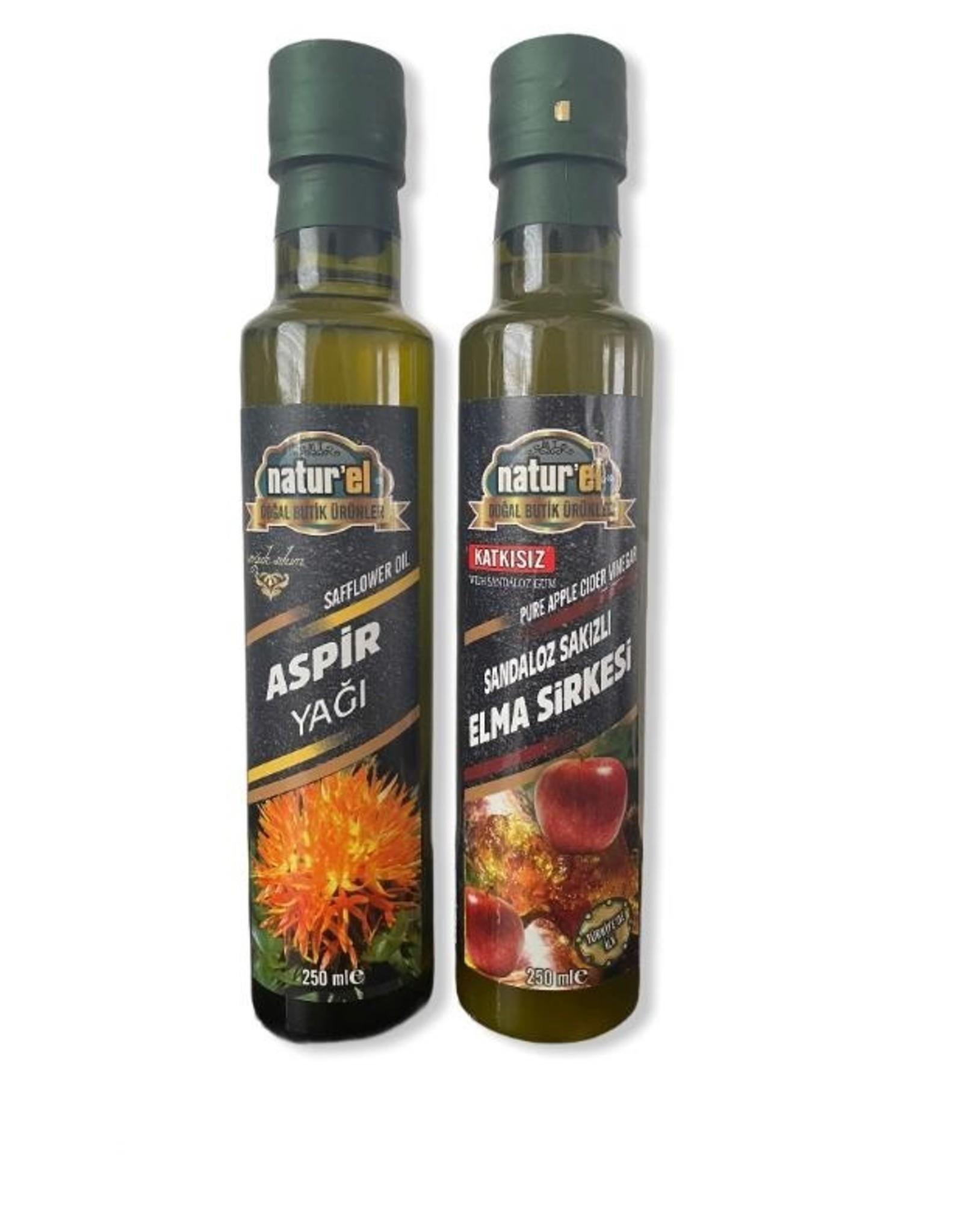 Herbal Drogist Naturel Saffloerolie & Appel Azijn met Sandarac Gum 250 ml