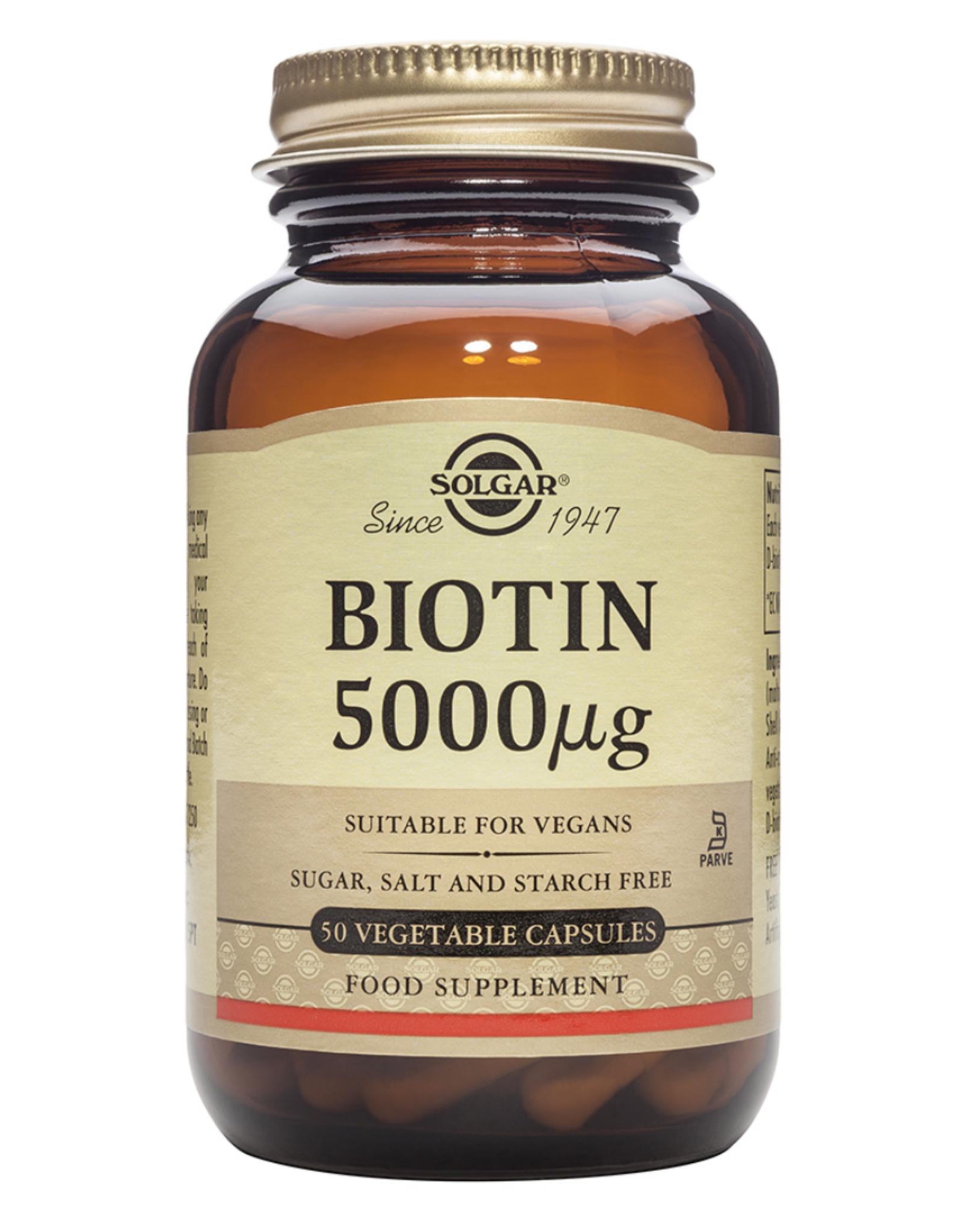 Solgar  Solgar Biotin 5000 Mcg 50 Kapsül