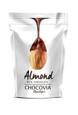Chocovia  Chocovia Amandel met melkchocolade 120g