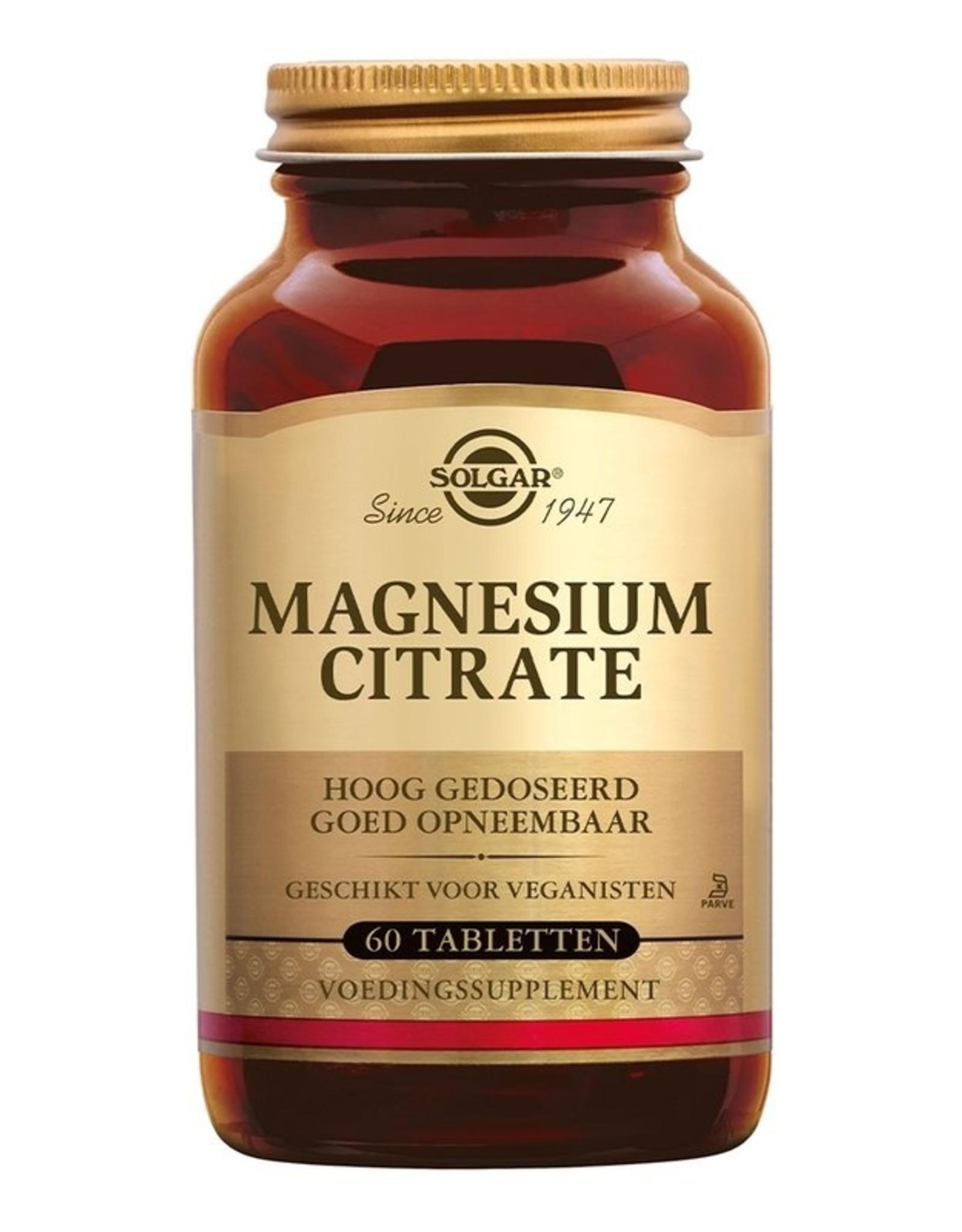 Solgar Solgar Magnesium Citrate 60 Vegan tabletten