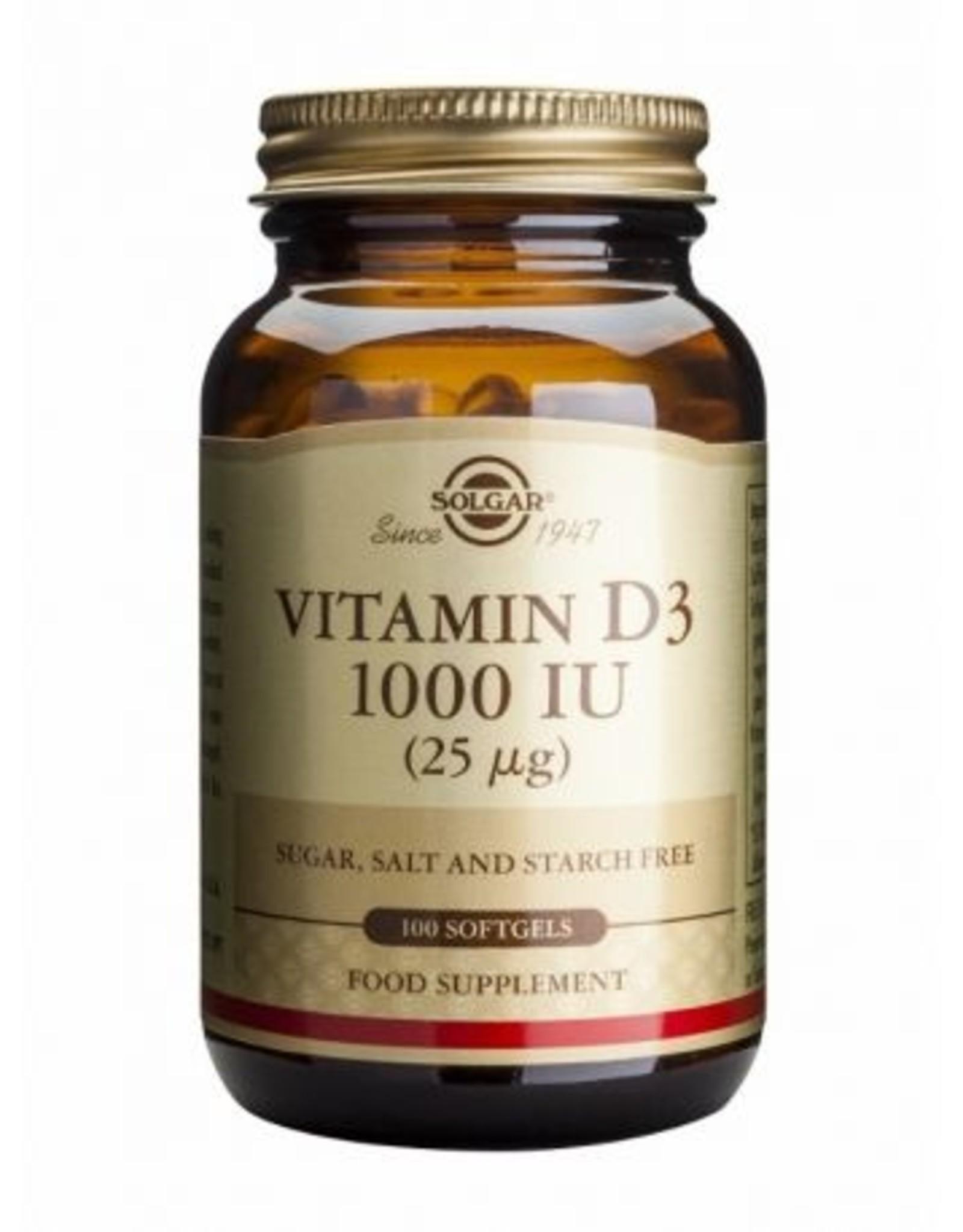 Solgar Solgar Vitamin D3 1000 IU 100  Yumuşak Tablet