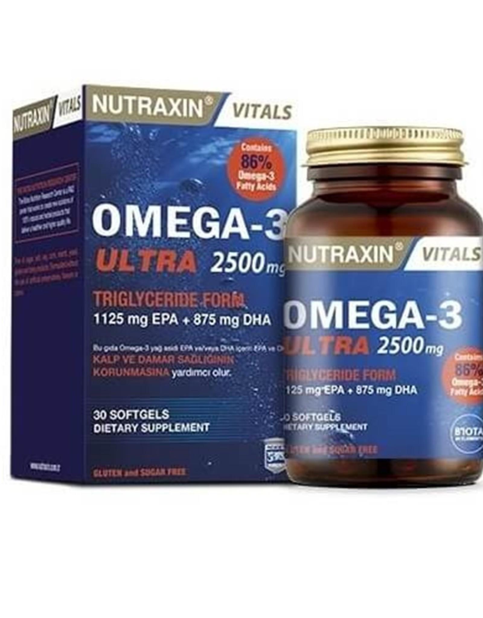 Nutraxin Biota Nutraxin Omega-3 Ultra 2500 mg - 30 softgels