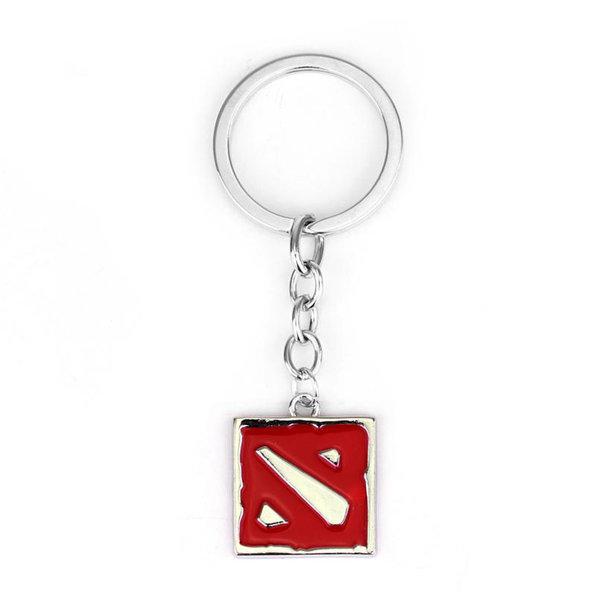 Dota 2 keychain - WHITE/RED