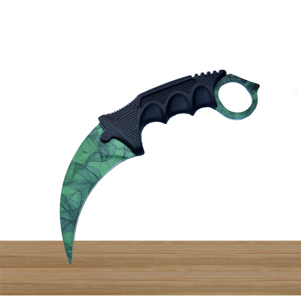 Karambit Emerald knife from CS:GO
