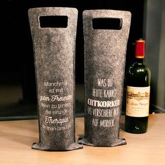Verpackung Filztasche für Wein - Geschenkstasche