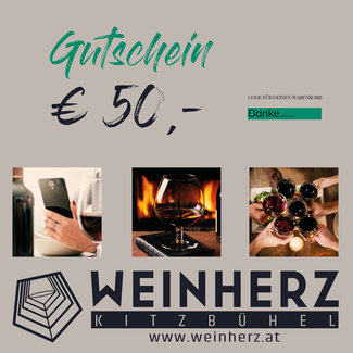 Diverse WEINHERZ Gutschein im Wert von € 50,-