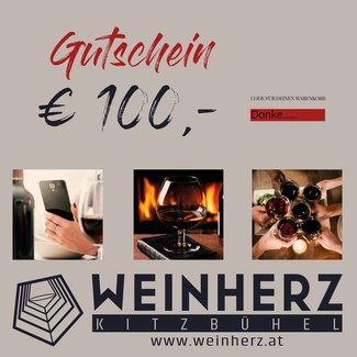 Diverse WEINHERZ Gutschein im Wert von € 100,-
