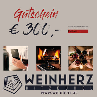 Diverse WEINHERZ Gutschein im Wert von € 300,-
