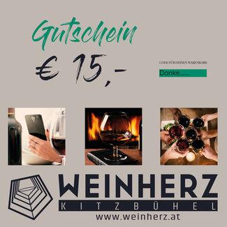 Diverse WEINHERZ Gutschein im Wert von € 15,-