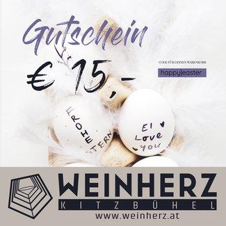 Diverse WEINHERZ Oster - Gutschein im Wert von € 15,-