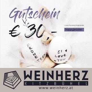 Diverse WEINHERZ Oster - Gutschein im Wert von € 30,-