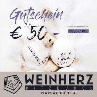 Diverse WEINHERZ Oster - Gutschein im Wert von € 50,-