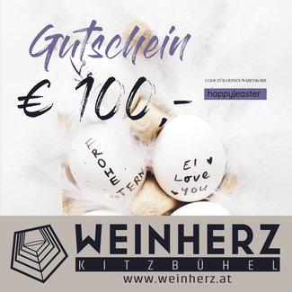 Diverse WEINHERZ Oster - Gutschein im Wert von € 100,-