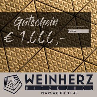 Diverse WEINHERZ Gutschein im Wert von € 1000,-