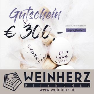 Diverse WEINHERZ Oster - Gutschein im Wert von € 300,-
