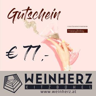 Diverse WEINHERZ Geburtstags - Gutschein im Wert von € 77,-