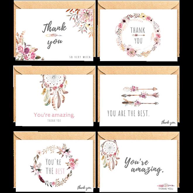 "Glückwunschkarte - ""Thank You II"""