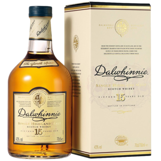 Dalwhinnie Destillerie / Schottland, Highlands Dalwhinnie 15 YO Highland Whisky in Geschenkspackung 0.7 l