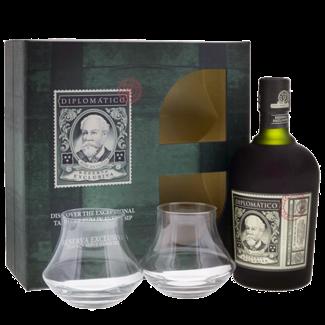 Destilerias Unidas / Venezuela Diplomático Reserva Exclusiva 12 Years Rum 0.7 l - Set mit 2 Gläsern