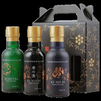 Kyoto Distillery/ Japan, Kyoto KI NO BI Gin Tasting-Set (3x 0.2 l) 45.1% vol