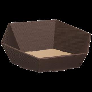 Verpackung Präsentkorb Braun Sechseck