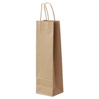 Verpackung 1er Kraftpapiertasche Natur