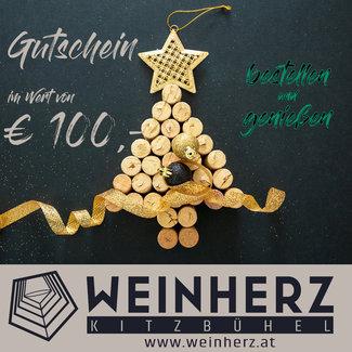 Diverse WEINHERZ Weihnachtsgutschein im Wert von € 100,-