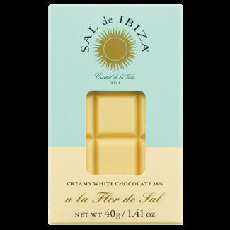Sal de Ibiza / Spanien, Ibiza Weiße Schokolade mit Flor de Sal (40g)