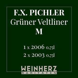 """F.X. Pichler / Wachau, Oberloiben RARITÄTEN Set """"Grüner Veltliner Smaragd M"""" 2003 & 2006 0.75 l"""