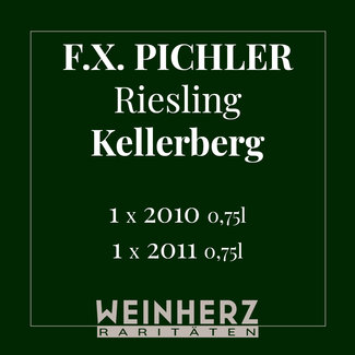 "F.X. Pichler / Wachau, Oberloiben RARITÄTEN Set ""Riesling Smaragd Kellerberg"" 2010 & 2011 0.75 l"