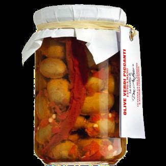 Don Antonio / Italien, Abruzzen Grüne Oliven mit Chili (280g)