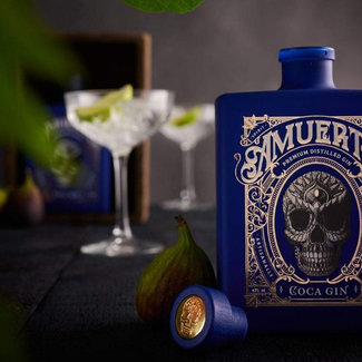 Amuerte Distillery / Belgien Coca Leaf Gin Blue 0.7 l 43% vol