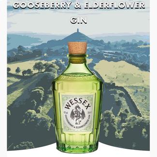 Wessex Distillery / UK, Broxbourne Gooseberry & Elderflower Gin 0.7 l 40% vol