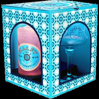 Destillerie Vergnano / Italien, Piemont Malfy Gin Rosa Set mit Copa Glas 0.7 l 41% vol