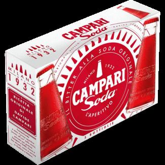 Davide Campari / Italien, Milano  Campari Soda 0.1 l 5er Tray 10% vol