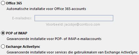 POP of IMAP