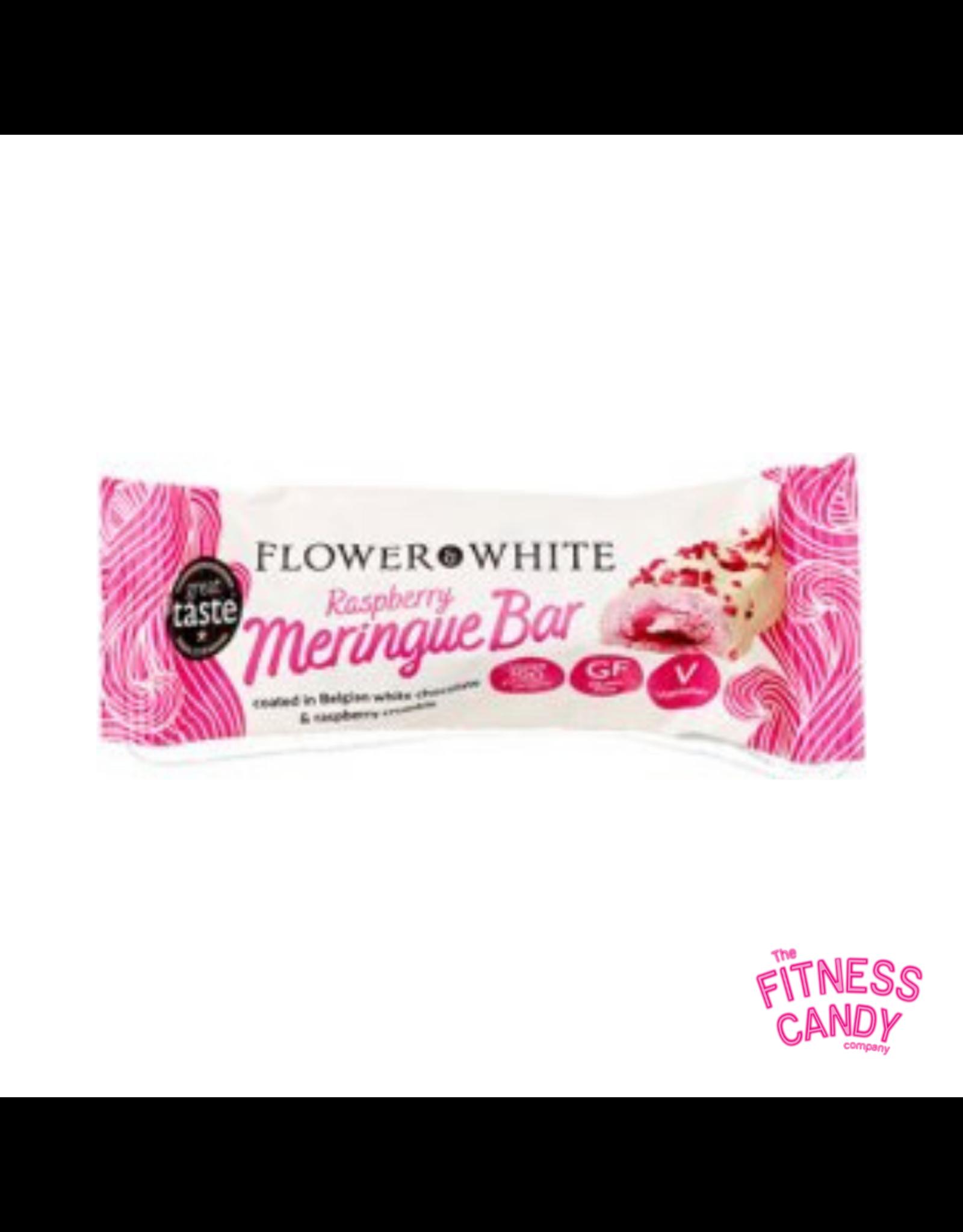 FLOWER WHITE FLOWER WHITE MERINGUE BAR Raspberry