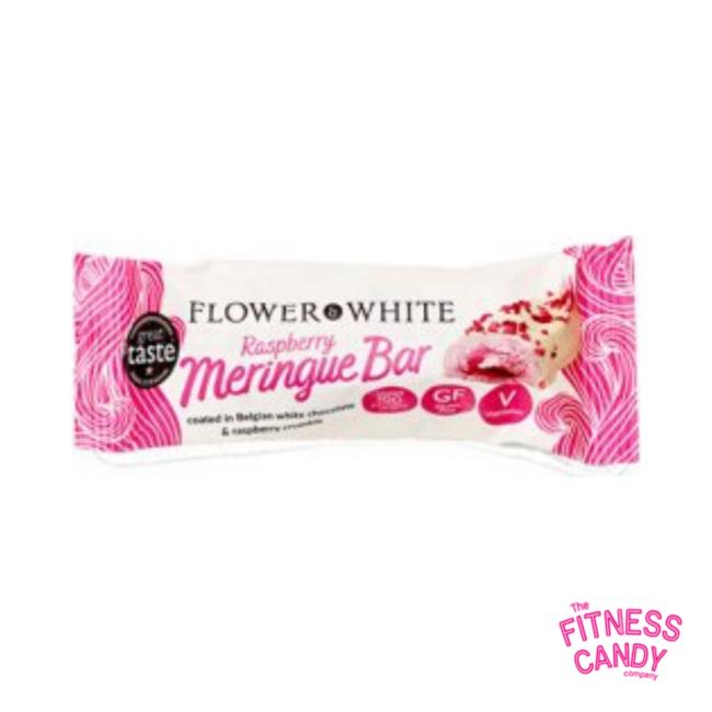 FLOWER WHITE Meringue Bar Raspberry
