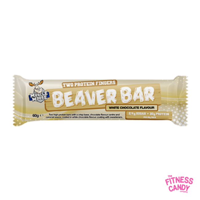 MUSCLE MOOSE  Beaver Bar White Chocolate