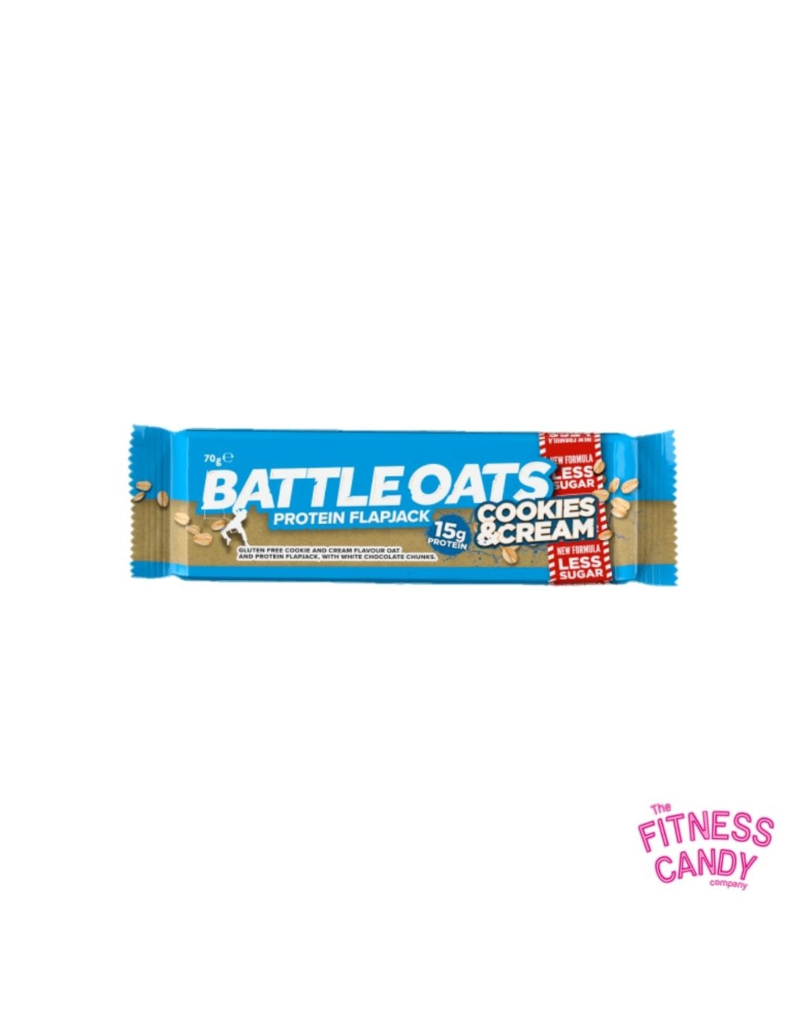 Battle Oats BATTLE OATS PROTEIN FLAPJACK COOKIES AND CREAM