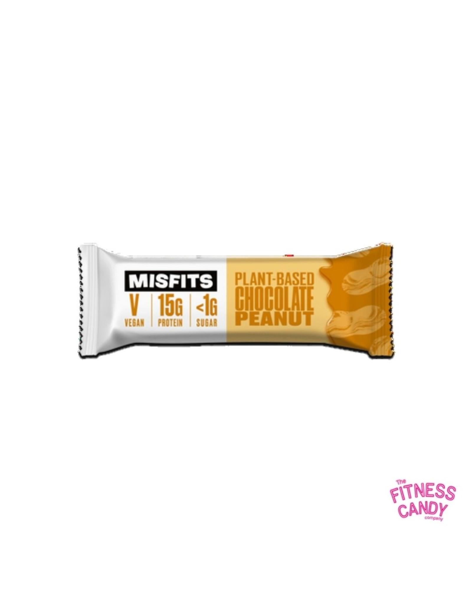 Misfits MISFITS VEGAN PROTEIN BAR – CHOCOLATE PEANUT