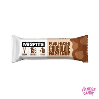 Misfits MISFITS VEGAN PROTEIN BAR – CHOCOLATE HAZELNUT