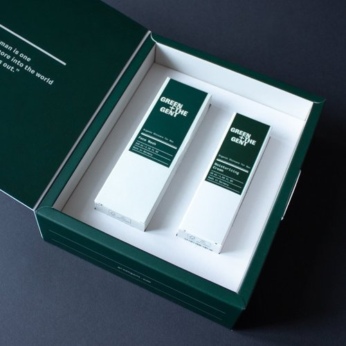 Green + The Gent Fabulous Face Kit